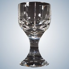 Baccarat Mercure Tall Water Goblet, Hand Blown