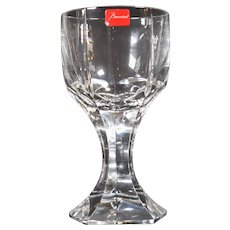 4 Baccarat Mercure Wine Glasses, Hand Blown