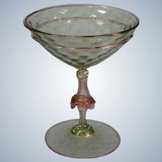 Salviati Murano Venetian Champagne Glass, Circa 1950