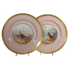 Pair of Lenox Game Plates, Artist Signed W.H. Morley