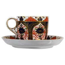 Antique Royal Crown Derby Old Imari Cup & Saucer, Pattern 846