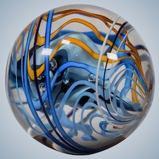 Robert Dane Art Glass Sphere/Sculpture, Circa 1995