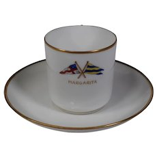 Limoge Yachting Nautical Demitasse and Saucer