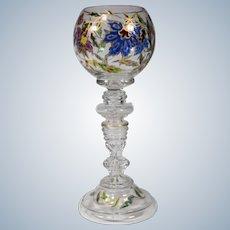 Fritz Heckert Wine Goblet, Circa 1890, Signed