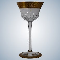 "St. Louis ""Thistle"" Port Glass with Full Gold Border"