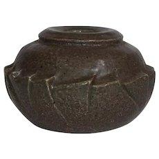 Artist Signed Royal Copenhagen Mid Century Heavy Potter Vase