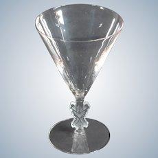 R.Lalique Strasbourg Water Goblet, Circa 1920