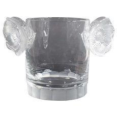 "Lalique ""Constance"" Ice Bucket or Wine Cooler"