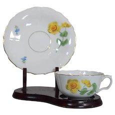 Rare Meissen Demitasse Cup & Saucer, Hand Painted