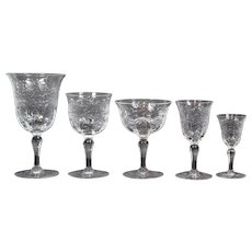 Webb Stemware Service Place Setting for 10, 50 Pieces