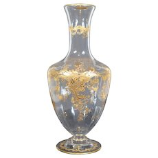 St. Louis Pattern STL32 Massenet Gold Crystal Glass Carafe