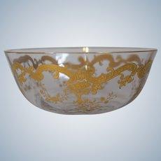 4 St. Louis STL32 Massenet BowlS Gold Gilded Glass