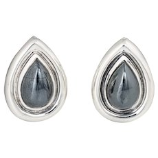 Tiffany & Co Hematite Earrings c1995 Sterling Silver Paloma Picasso Vintage