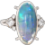 6.50ct Jelly Opal Diamond Ring Vintage Platinum 6 Estate Fine Jewelry Natural