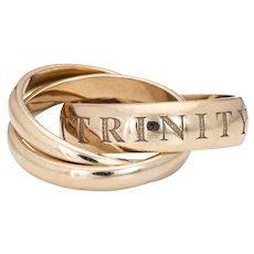 Vintage Cartier Amour et Trinity Ring c1998 Sz 51 5 3/4 18 Karat White Gold Jewelry