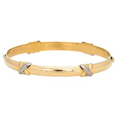 Cartier Trinity Bangle Bracelet Sz 17 Circa 1995 18 Karat Yellow Gold Vintage Jewelry