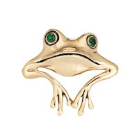 Frog Pendant Enhancer Vintage 14 Karat Yellow Gold Estate Fine Animal Jewelry