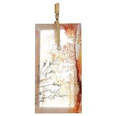 Alex Sepkus Sticks & Stones Dendritic Opal Pendant Diamond 18 Karat Gold Estate