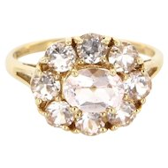Estate 14 Karat Yellow Gold Kunzite Large Cocktail Ring Fine Jewelry Pre-Owned