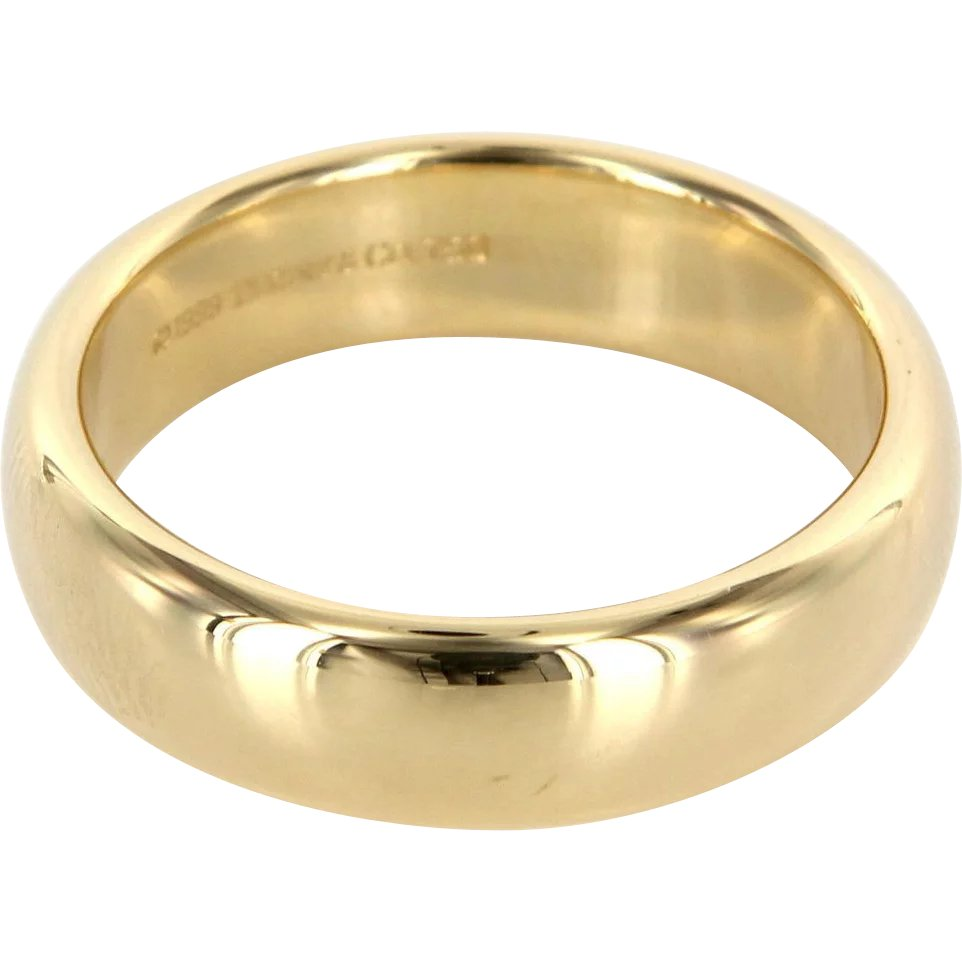 6d914c4be Estate Designer Tiffany & Co 18 Karat Yellow Gold Lucida Mens Wedding :  Sophie Jane | Ruby Lane