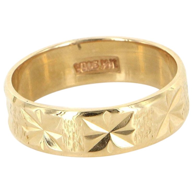 gold celtic ring rings wedding with bands karat knot diamond band