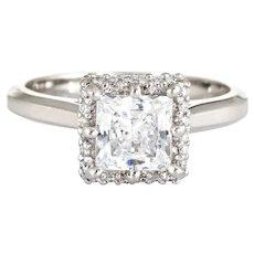 Tacori Square Engagement Ring Platinum Sz 6.5 Diamond Semi Mount Jewelry