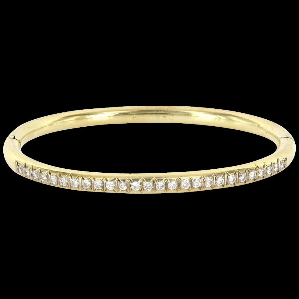 gold tennis bracelet diamond bangles bangle bracelets carat photo