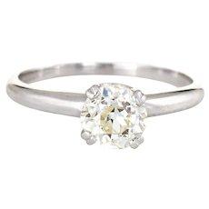 Vintage Diamond Engagement Ring 0.65ct Old Mine Cut Estate Bridal Jewelry Sz 5.5