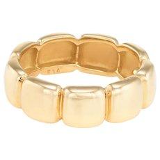 Van Cleef & Arpels Vintage 18 Karat Yellow Gold Band Ring Estate Signed Jewelry