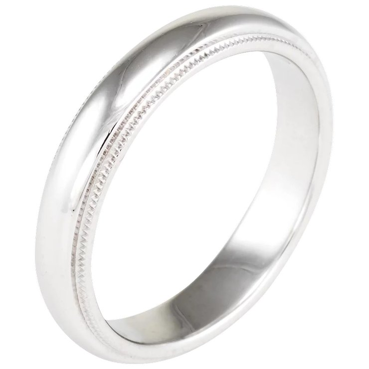 fit wedding milgrain standard dp com comfort amazon bands band platinum