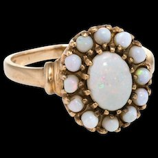 Opal Princess Ring Vintage 10k Yellow Gold Estate Fine Jewelry Pre Owned