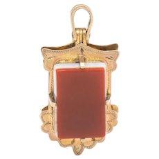 Antique Victorian Opening Secret Compartment Fob Pendant Charm 10 Karat Rose Gold