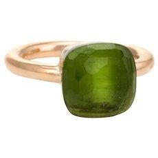 Pomellato Nudo Lemon Quartz Ring 18 Karat Rose Gold Estate Sz 5.5 Fine Jewelry