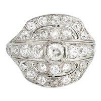 Vintage Art Deco 2.25ct Diamond Ring Platinum Fine Jewelry Heirloom Sz 8.5