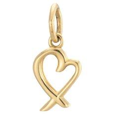 Tiffany & Co Small Heart Charm 18 Karat Gold Paloma Picasso Loving Heart Pendant