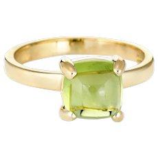 Tiffany & Co Paloma Picasso Peridot Sugar Stacks Ring 18 Karat Yellow Gold 5 Estate