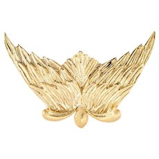 Buccellati L'air Du Temps Angel Wings Brooch 18 Karat Gold Nina Ricci Vintage