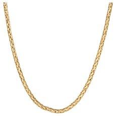 "Vintage Cartier Necklace Chain 18 Karat Yellow Gold 3mm Textured 15.5"" Choker Length"