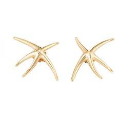 Tiffany & Co Large Starfish Earrings Vintage 18 Karat Yellow Gold Estate Fine Jewelry