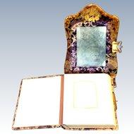 1800's Victorian Velvet Fold Out Photo Album TLC