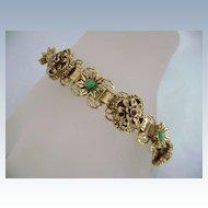 Vintage FLORENZA Victorian Revival Ornate Bookchain Bracelet