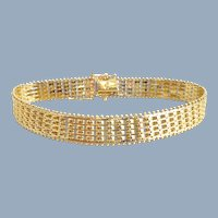 Estate 14K Yellow Gold Mesh Link Bracelet