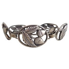 Early Danecraft FELCH Sterling Silver Acorns Bracelet