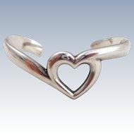 JAMES AVERY Sterling Silver Heart Cuff Bracelet