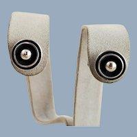 NE FROM Denmark Modernist Sterling Silver Ball Earrings