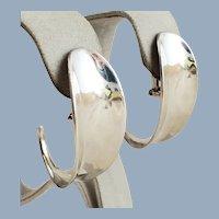 Vintage ROBERT LEE MORRIS Sterling Silver Hoop Earrings