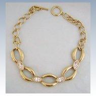 Vintage S.A.L. SWAROVSKI Chunky Link Crystal Necklace