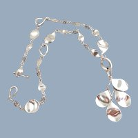 Michael Dawkins Sterling Silver Petals Necklace & Drop Enhancer