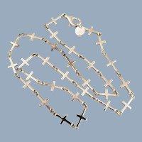 RLM STUDIO Sterling Silver Linked Crosses Necklace