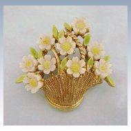 Vintage Signed ART Flower Basket
